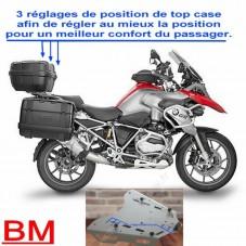 WUNDERLICH BMW Platine Alu Réglable pour Top-Case GIVI - 1200 GS LC / 1250 GS - argent BM500-101 Boutique en Ligne