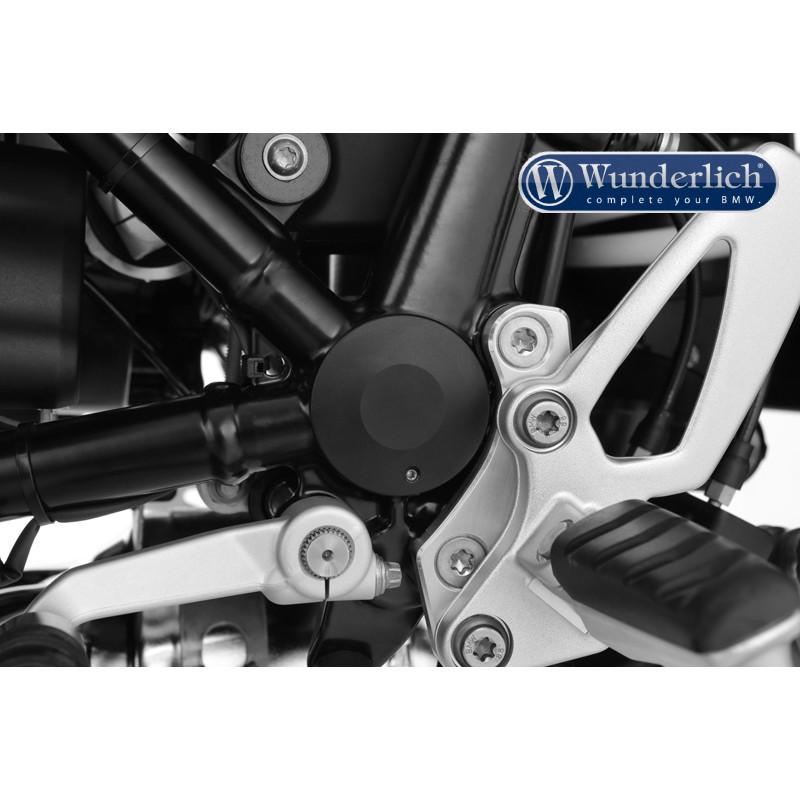 WUNDERLICH BMW Cache axe du bras oscillant, design classique - gauche - noir 28290-202 Boutique en Ligne
