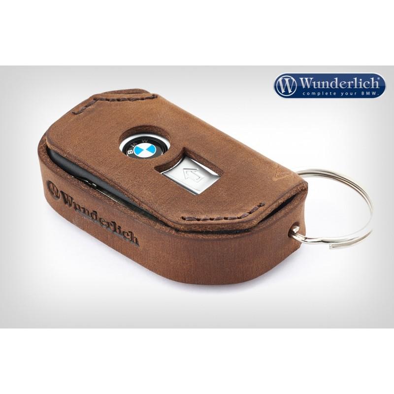 WUNDERLICH BMW Etui porte-clefs Wunderlich en cuir - brun 44115-900 Boutique en Ligne