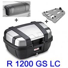 WUNDERLICH BMW TOP CASE R 1200 GS LC GIVI MONOKEY TREKKER 52L + Support Aluminium + dosseret TRK52N A + SRA5108 + e133s Bouti...